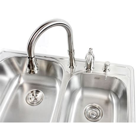 60 40 drop in kitchen sinks 33 inch stainless steel top mount drop in 60 40
