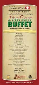 Italian Food Dinner Party - the italian night buffet is back the zermatt resort weblog
