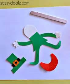 leprechaun template popsicle stick leprechaun puppet craft for st s
