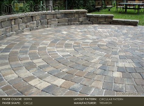circular paver patio pavers pavers shown here is tremron circle pavers