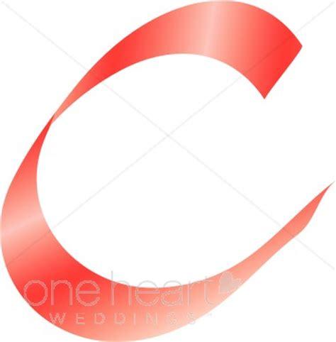 Clipart Letter C   Pink Ribbon Alphabet