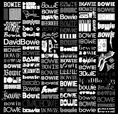 david bowie font the changing faces of bowie blam 100 contributors