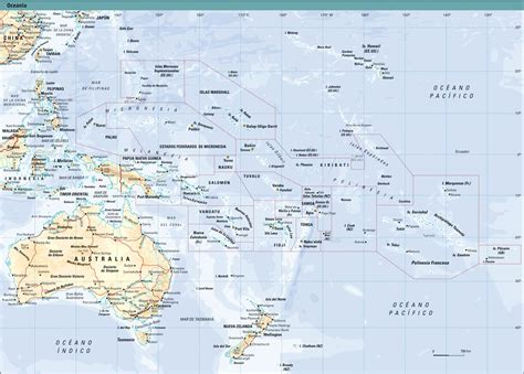 map of oceania oceania physical map size