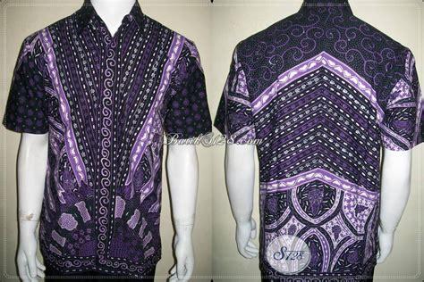 Emeja Moderen Pria Lengan Panjang Warna Ungu Size S M L batik modern untuk pria warna hitam kombinasi ungu putih