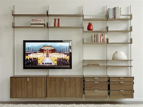cabinets shelving wall shelving ideas entertainment
