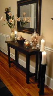 Entry Way Table Decor by Diy Console Table With Life As Lori Somewhat Simple