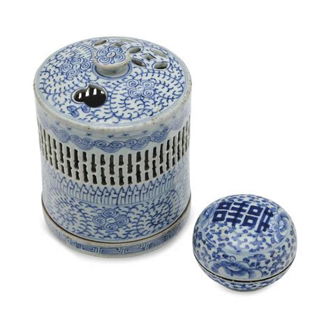 blue and white desk accessories two chinese blue and white porcelain desk accessories