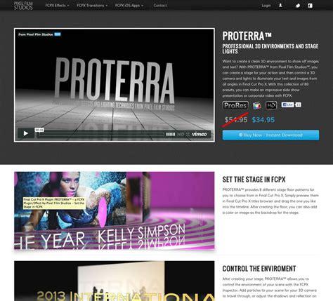 final cut pro video effects pixel film studios releases proterra 3d environments and