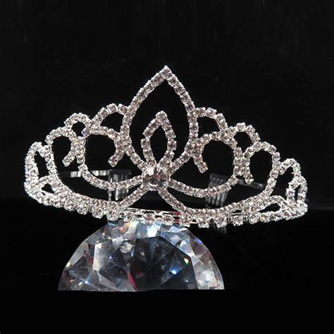 bridal tiara prom rhinestone crystal hair pin comb heart crown wedding rhinestone bridal crystal hair headband crown comb