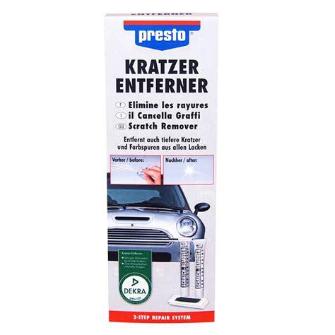 Politur Kratzer Lack by Kratzer Entferner Presto Lack Politur 2 Step Repair System