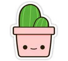 quot cactus in cute pot quot stickers by peppermintpopuk redbubble