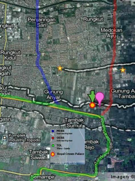 Tanah Lingkar Timur Sidoarjo jual murah ruko strategis the royal crown palace jual