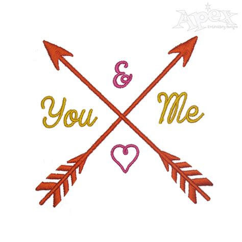 embroidery design arrow you and me arrow embroidery design