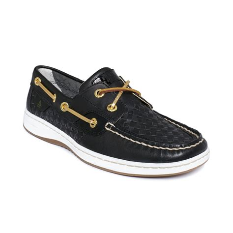 sperry top sider womens bluefish boat shoes in black