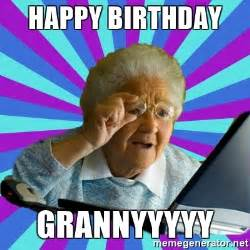 Old Lady College Meme - funny old lady birthday
