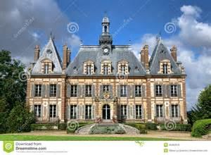 Chateau Style Homes French Renaissance Revival Antique Mansion Castle Stock