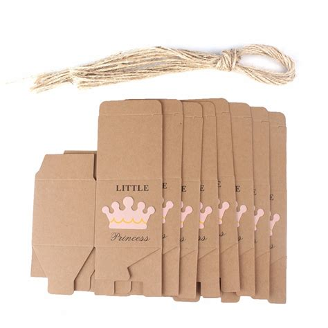 Kotak Kado 10pcs Kraft Paper Gift Box 10pcs kraft paper gift box boxes baby shower decorations wedding favors and gifts box for