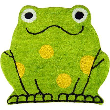 frog bathroom rug peeking frogs tufted rug green walmart
