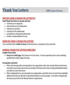 Thank You Letter To The From Student Sle Thank You Letter To From Student 4 Exles In Word Pdf