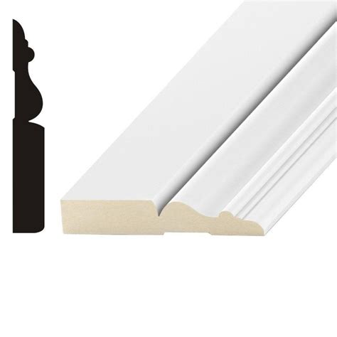 mdf home depot kelleher imperial 5 8 in x 6 in mdf base moulding mdf24a the home depot