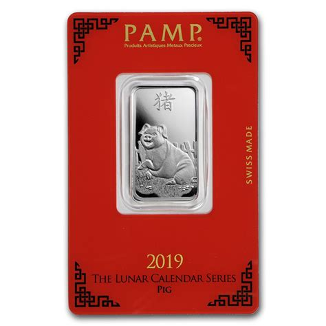 10 gram silver bars 10 gram silver bar p suisse year of the pig bar for