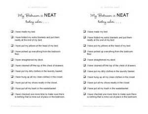 Bedroom Checklist My Bedroom Is Clean Checklist Getting Organized