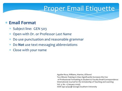 email format n level listening effectively