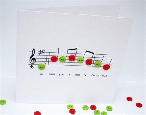 weihnachtskarte weihnachtsmusik mit knopfnotizen papier handgemachte grusskarte carol
