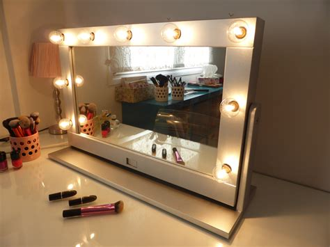 makeup mirror stand with lights vanity mirror with lights and stand tilted hollywood mirror