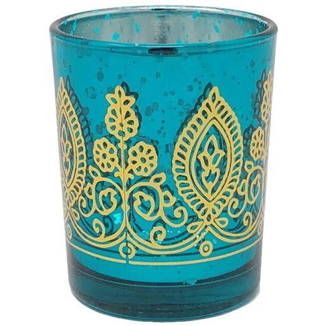 Teal Votive Candle Holders by Boho Henna Mercury Glass Votive Candle Holder 2 75 Quot Teal