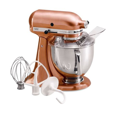 designer kitchen aid mixers kitchenaid ksm152pscp custom metallic series 5 quart stand