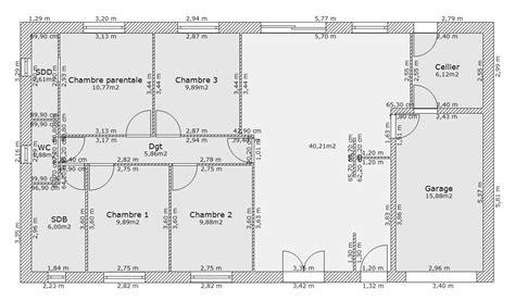 plan maison plain pied 4 chambres gratuit simple exposition plan maison chambres avis plan maison