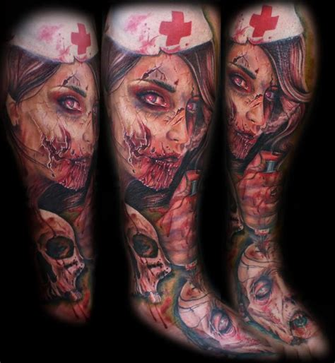 horror zombie tattoo on foot real photo pictures images 12 best zombie tattoo images and designs