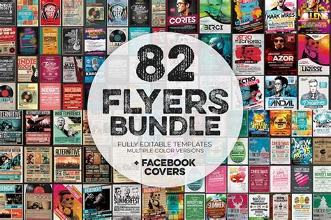 Big Flyer Templates Bundle For Adobe Photoshop Adobe Flyer Template