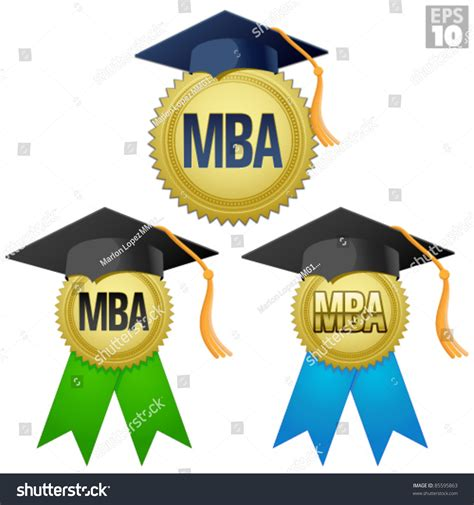 Mba Graduation by Mba Graduation Seal Medal Gold Seal Stock Vector 85595863