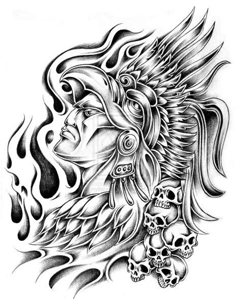 aztec warrior tattoos designs aron jaral vera aztec
