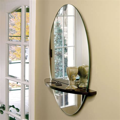 bookcase with mirror mirror shelf wall decor bathroom mirrors and wall mirrors