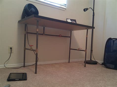 Create Your Own Custom Desk From Plumbing Pipe Make Pipe Computer Desk
