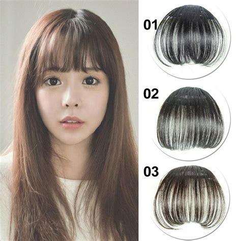 fringe or no fringe for very thin hair women new air thin synthetic hair bangs translucent fake