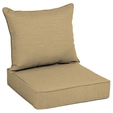 Shop Allen Roth Texture Deep Seat Patio Chair Cushion Patio Furniture Chair Cushions