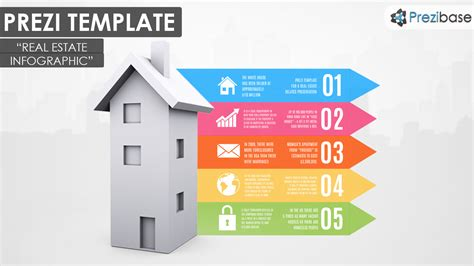 the house of real estate real estate infographic prezi template prezibase