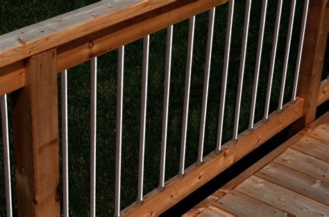 Aluminum Balusters For Deck Railings Deck Impressions Lighted Aluminum Balusters