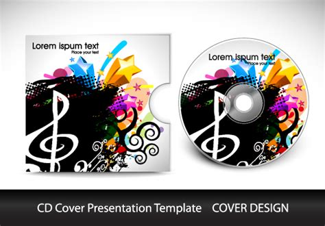 Cd Cover Presentation Vector Template Material 06 Free Download Adobe Photoshop Cd Template