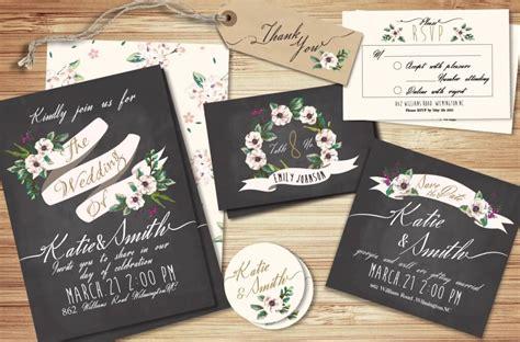 90 Gorgeous Wedding Invitation Templates Design Shack Wedding Invitation Suite Templates