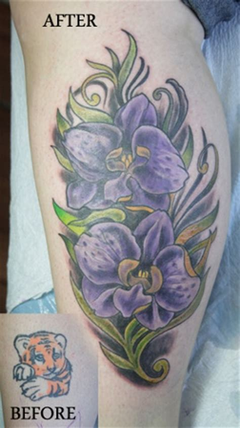 tattoo cover up calf kitchener tattoo