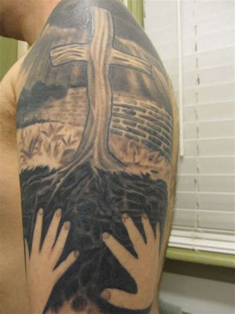 brick wall tattoo 30 fascinating wall tattoos creativefan