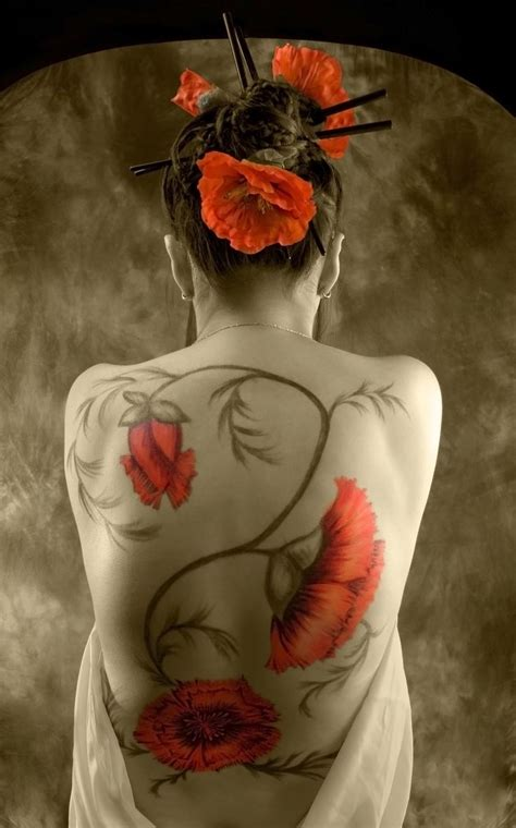 japanese lady tattoo designs 45 awesome poppy tattoos