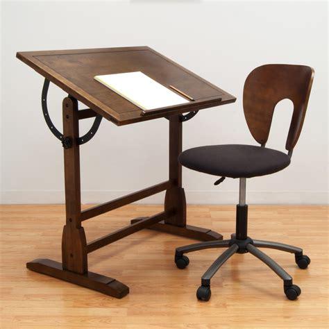 Drawing Desk by Studio Designs 42 In Rustic Oak Vintage Drafting Table