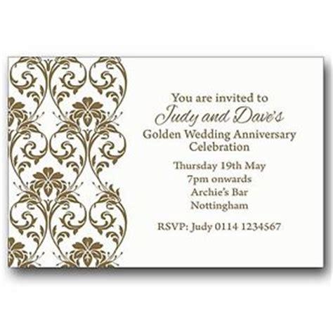 personalised 50th wedding anniversary invitations uk personalised invitations 50th golden wedding