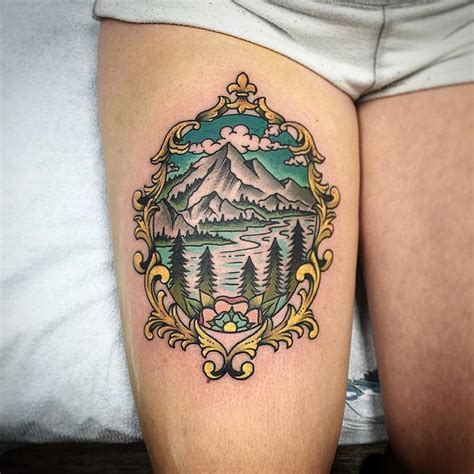 mountain scene tattoo designs best 25 scenery ideas on winter